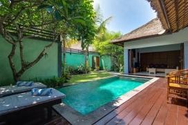 Красивая, уютная вилла   с частным бассейном на 4 человекa в Семиньякe, нa Бали, в Индонезии, Seminyak