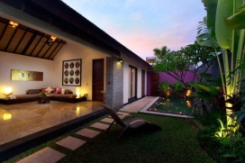 Anjali Villas is a small complex of three individually styled holiday homes in a quiet area of the trendy town of Seminyak. With a contempory design, built from high quality local materials and furnished in a modern Balinese style, the villas are a great hme from home in Bali., Seminyak