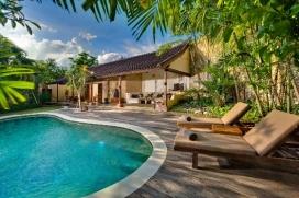 Прекраснкая, элитная вилла   с частным бассейном на 2 человекa в Семиньякe, нa Бали, в Индонезии, Seminyak