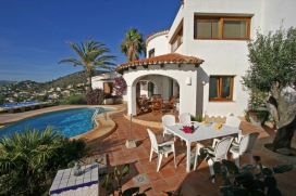 Villa rústica y confortable  con piscina privada en Moraira, en la Costa Blanca, España para 4 personas, Moraira