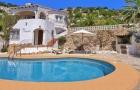 Casa Margarita,Villa classique à Moraira, sur la Costa Blanca, Espagne  avec piscine privée pour 6 personnes...