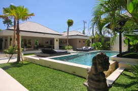 This beautiful luxury holiday villa is located in popular Canggu between magnificent green rice paddies. The villa offers a lovely modern Balinese atmosphere, on a minute walking distance from the prestigious Canggu Club, Canggu Deli supermarket for your daily groceries and close to Batu Belig beach, a cozy beach and a well-kept secret of the insiders of Bali.A few minutes drive by scooter, you are right in the bustling heart of Seminyak, Oberoi and Petitenget, well known for its many restaurants, hip boutiques and trendy beach- and nightclubs, like Ku De Ta, Hu'u bar and Potato Head Beach Club. This unique location of villa Soul offers you peace, privacy, an unforgettable introduction to Balinese culture, but also the possibility to enjoy a wide range of entertainment that the vibrant nightlife of Bali has to offer. In short, an ideal place from where you can explore all charming, enchanting, and cozy places of the southwest coast of Bali.The spacious villa has an open living- and dining area, in modern style decorated with a great sense of taste and preservation of the Balinese style. A luxurious, fully equipped kitchen provides you all western comforts to make your stay as comfortable as possible. A separate, fully shielded utility and staff room ensures you totally privacy with your friendly and well trained staff in your close neighborhood. A pond connects the living room with two spacious bedrooms on the ground floor. These bedrooms both have luxurious open bathrooms with bath tub and built in massage area. This special place in the villa offers a luxurious feeling in a natural tropical setting. Via wide staircases, with an imposing Buddha statue in between, you come upstairs. Here you will find a comfortable lounge area, on either side of the lounge area are two bedrooms, each with en suite bathroom. From these bedrooms, overlooking garden and swimming pool, you can endlessly enjoy stunning views the surrounding area.Villa Soul offers an ultimate feeling of luxury and serenity in a tropical setting.Important Information:Villa Soul is also offered as a three or four bedroom villa for up to 6 or 8 people.Facilities:, Canggu
