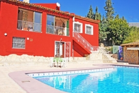Beautiful and comfortable villa in Calpe, on the Costa Blanca, Spain  with private pool for 8 persons, Calpe