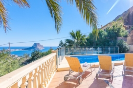 Beautiful and comfortable villa with private pool, in Calpe, Costa Blanca, Spain for a maximum of 10 persons.This villa is situated in a hilly and residential area and at 3 km from Playa Arenal Bol beach. The accommodation has a lot of privacy, a gar, Calpe