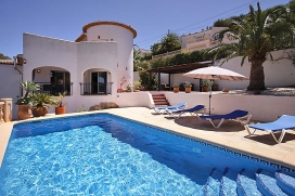 Beautiful and comfortable villa in Javea, on the Costa Blanca, Spain  with private pool for 4 persons, Javea