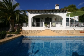 Lovely and classic villa in Moraira, on the Costa Blanca, Spain  with private pool for 4 persons, Moraira