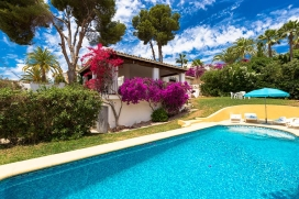 Villa in Moraira, on the Costa Blanca, Spain  with private pool for 5 persons, Moraira