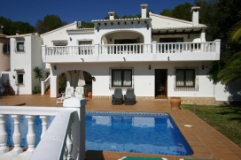Lovely and classic villa in Moraira, on the Costa Blanca, Spain  with private pool for 6 persons, Moraira