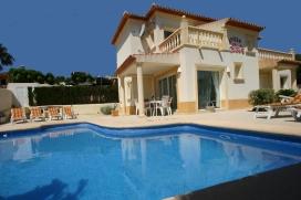 Schöne und komfortable Villa in Moraira, an der Costa Blanca, Spanien  mit privatem Pool für 8 Personen, Moraira